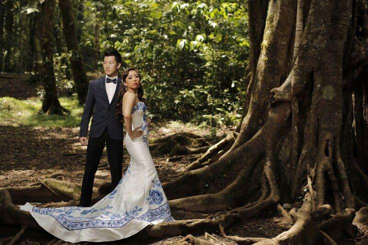 China porcelene gown #prewedding #bedugul #bali