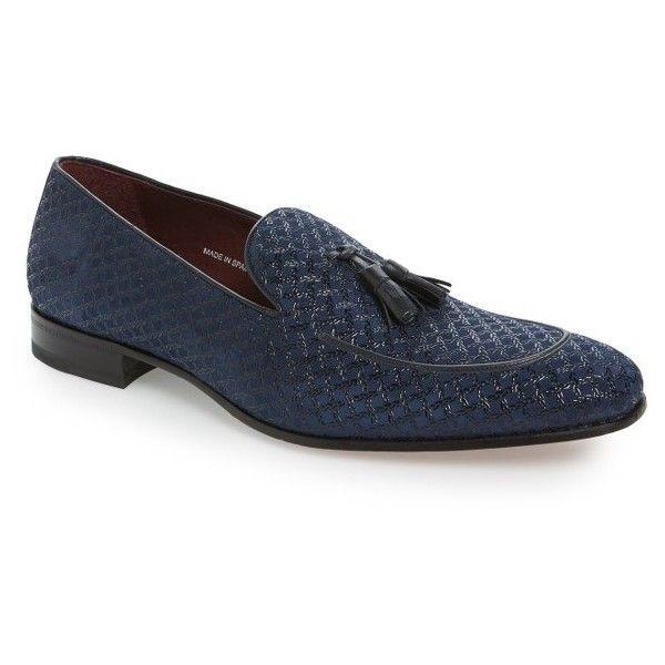 Men's Mezlan 'Carol' Tassel Loafer (21.200 RUB) ❤ liked on Polyvore featuring men's fashion, men's shoes, men's loafers, blue suede, mens tassel shoes, mens shoes, mens blue loafers shoes, mens loafer shoes and mens tassel loafers