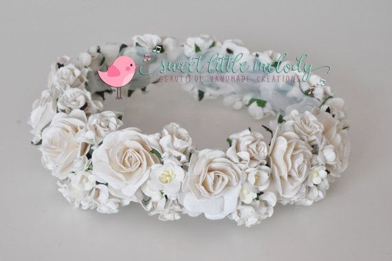 Maternity Flower Crown White Flower Crown by SweetLittleMelody