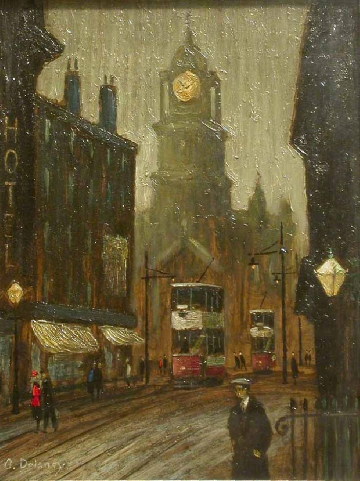 Old Town Hall, Arthur Delaney. English (1927 - 1987)
