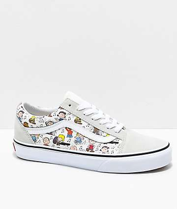 f686083602 Vans x Peanuts Old Skool Multi-Colored   White Skate Shoes
