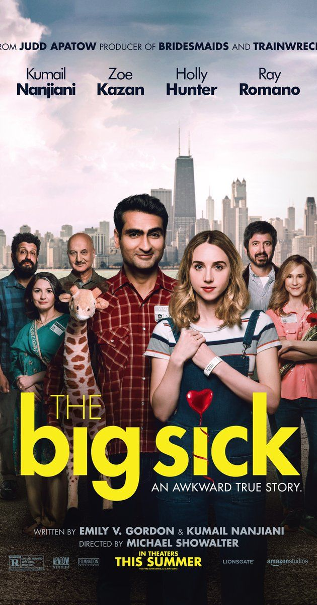 Directed by Michael Showalter.  With Kumail Nanjiani, Zoe Kazan, Holly Hunter, Ray Romano. A couple deals with their cultural differences as their relationship grows.