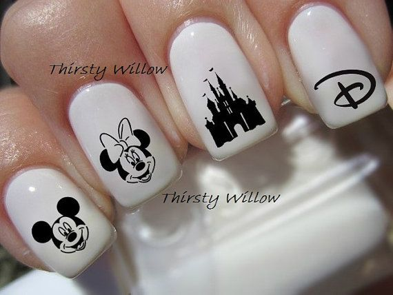 Stickers ongles Disney par ThirstyWillow sur Etsy