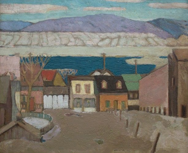 Albert H.Robinson - Ice and Houses La Malbaie 22 x 26 Oil on canvas (1922)