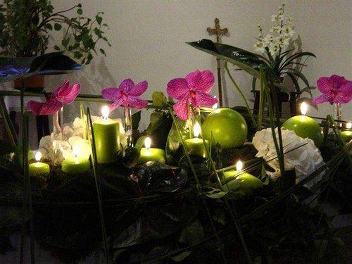 Décorations rose (fushia) et vert (anis) - Photo 1