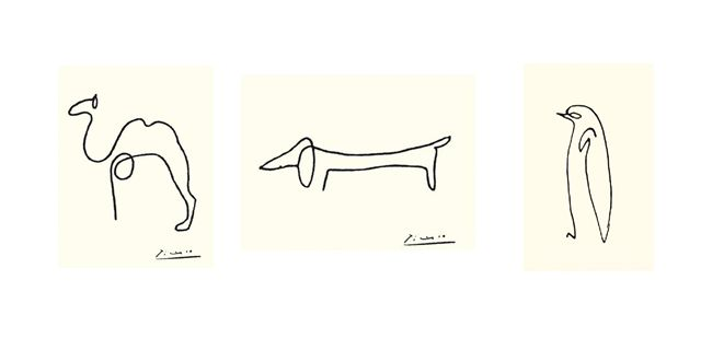 Picasso Contour Line Drawing : Picasso animal line drawings imgkid the image