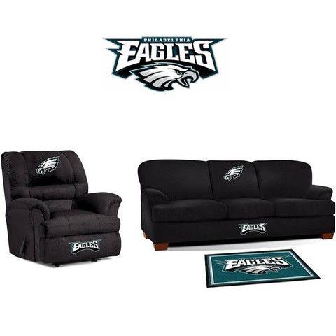 Marvelous Philadelphia Eagles Microfiber Furniture Set