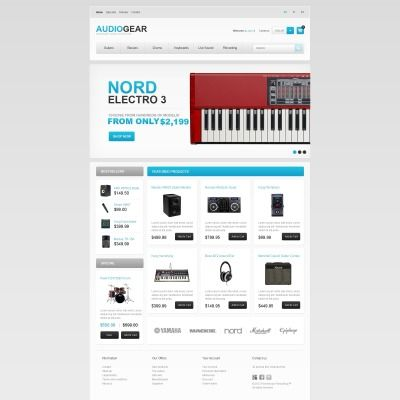 Audio Store  PrestaShop Template
