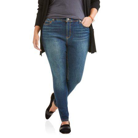 Petite Bandolino Women's Plus Millennial Curvy Jeans, Size: 20W Petite, Blue