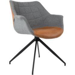 DOULTON Vintage Brown von ZUIVER Esszimmerstuhl Lounge Sessel  - Günstige Online-Shops und Angebote