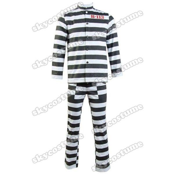 The Batman Gotham Penguin Oswald Cobblepot Cosplay Costume B-113 Prison Uniform