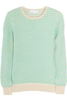 Mint waffle knit jumper from Jonathon Saunders