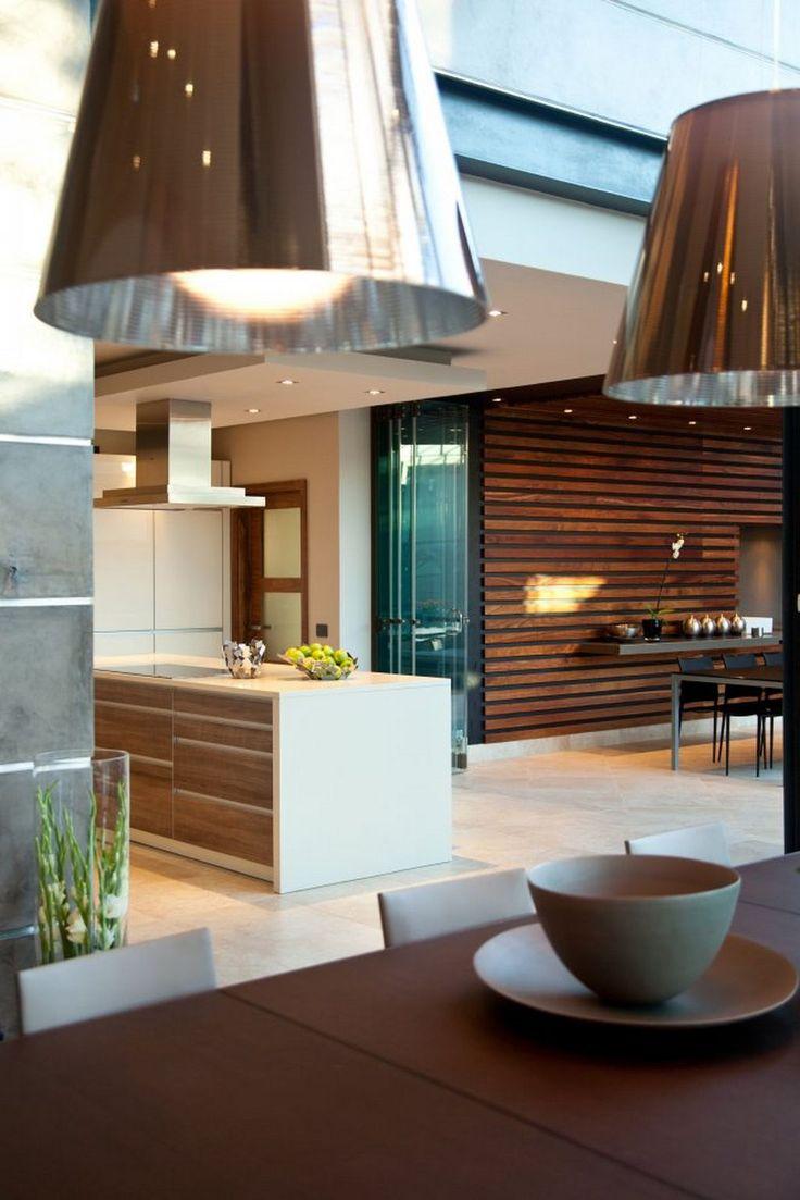 "like wood feature wall or interior ""rain screen""    Modern-Tropical-Home-Ideas-lighting-21.jpg (1067×1600)"