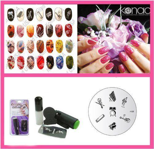 105 best beauty nail tools images on pinterest nail tools konad nail art mini set polish stamper scraper image plate m58 instruments prinsesfo Gallery