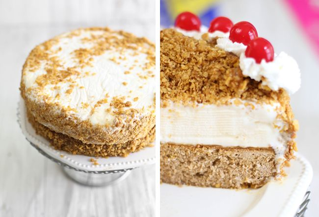 Sprinkle Bakes: Fried Ice Cream Layer Cake