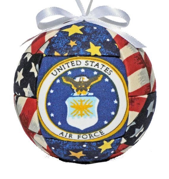 Air Force Patriotic Fabric Quilted Ornament Home by craftcrazy4u, $13.00