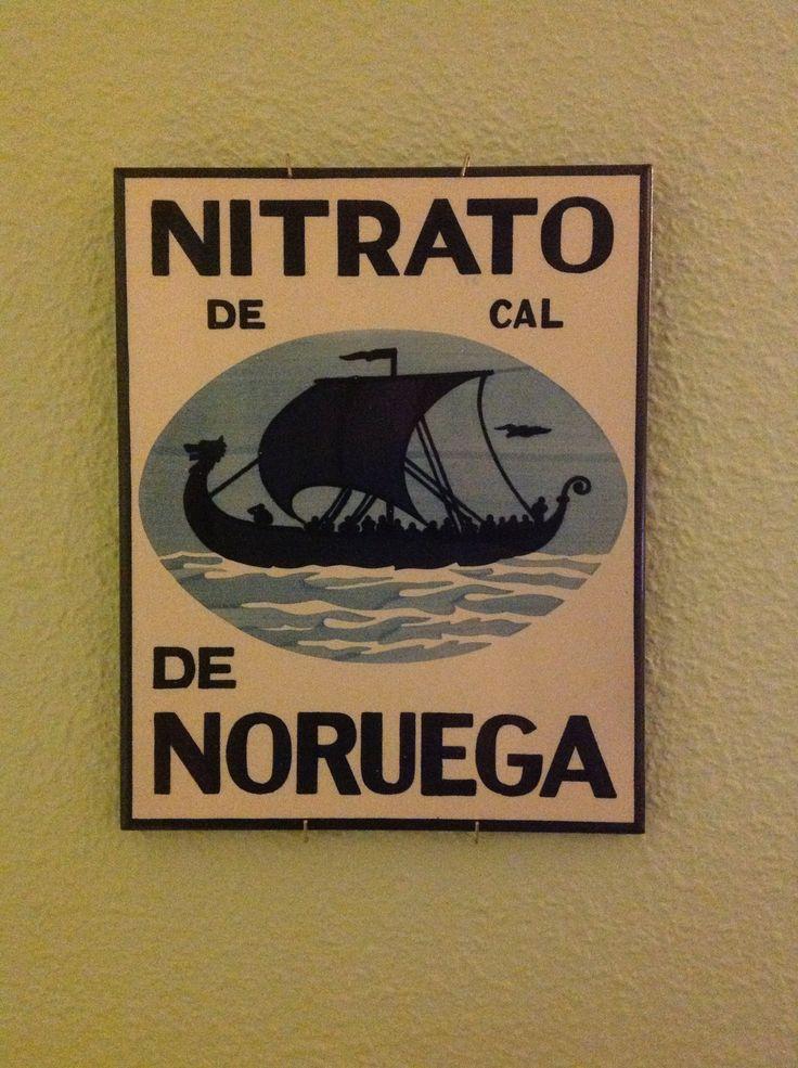 Cartel publicitario del Nitrato de Cal de Noruega