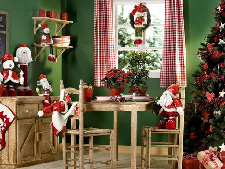 comedor decorado para navidad