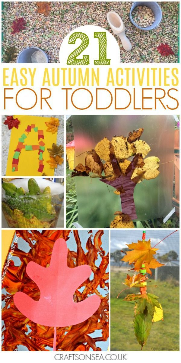 40 Easy And Fun Autumn Activities For Toddlers Crafts And