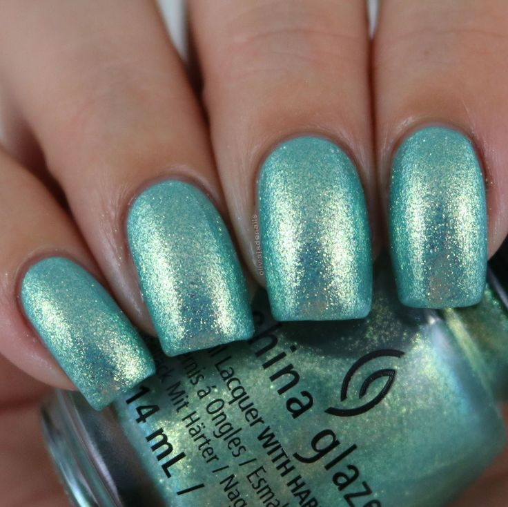 China Glaze Twinkle, Twinkle Little Starfish (over CG For Audrey) swatched by Olivia Jade Nails