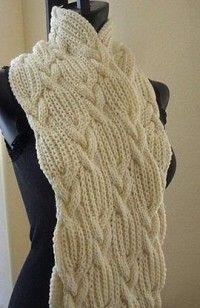 Вязание спицами: шарфы