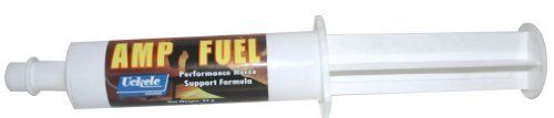 Amp Fuel Paste - 85 gm by Uckele Health & Nutrition. $9.95. Amp Fuel Paste is an advanced formula to support horses before, during and after intense performance. Use Amp Fuel to improve energy production, aid in stress recovery, strengthen metabolic function, reduce fatigue, improve detoxification and maintain fluid balance. Amp Fuel consists of over 60 high impact ingredients, including BCAA's, glutamine, creatine, tyrosine and arginine. Give 1 tube 4-6 hours prior to c...