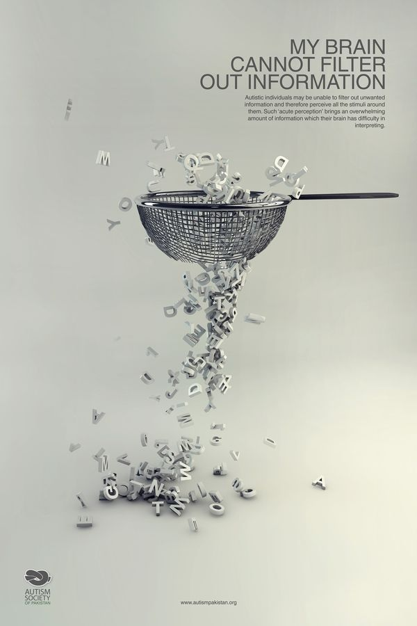 Autism Awareness Campaign by Hina Nazir, via Behance