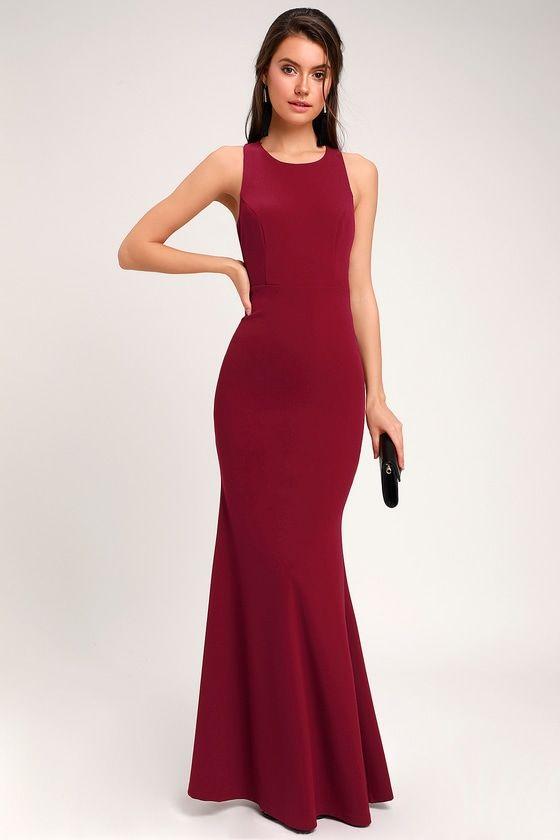 0dd63ad7c79 Sexy Burgundy Maxi Dress - Backless Dress - Backless Maxi Dress