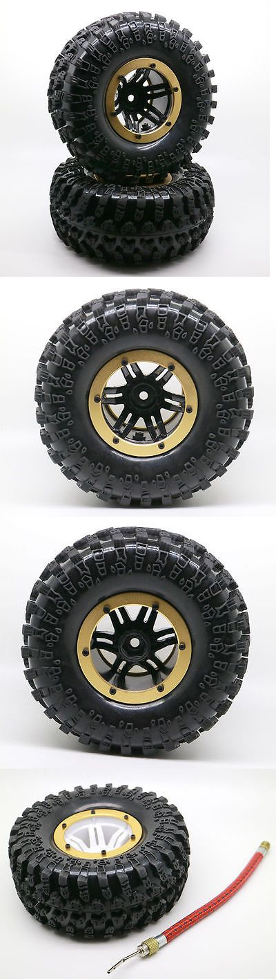 Wheels Tires Rims and Hubs 182201: 4Pcs 2.2 Inflatable Tires W Alloy Beadlock Wheels 1 10 Rc Crawler Car 3022Gd -> BUY IT NOW ONLY: $37.99 on eBay!
