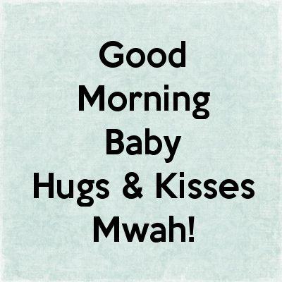 Good Morning Baby Kiss Wallpaper | Good Morning