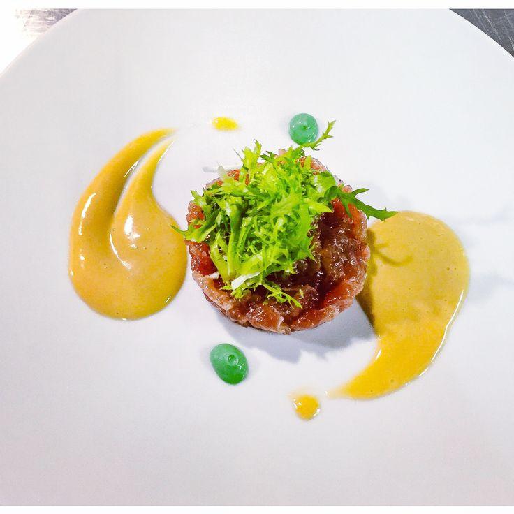 Tartaar van tonijn met sesam mayonaise en wasabi
