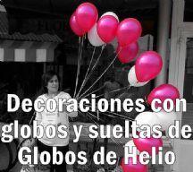 Decoraciones y sueltas de globos de helio en Salamanca para bodas y eventos