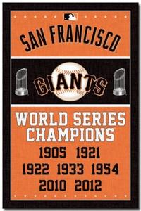 SAN FRANCISCO GIANTS - WORLD SERIES CHAMPIONS POSTER - 22x34 BASEBALL MLB 6716