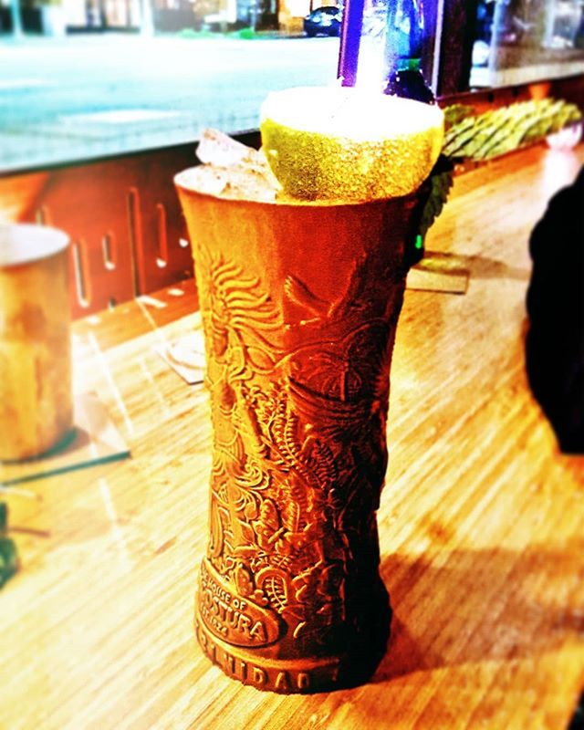 #waybackwednesday to #tiki time  can you spot the #flame?   #fire #drink #drinks #drinkup #drinkdrankdrunk #alcohol #cocktails #cocktail #happyhour #memories #tropical #refreshing #yum #happy #humpday #evening #bars #cheers #drinklocal #instadrink #outandabout #instapic #lime #bar #relaxation #relaxing #afterwork
