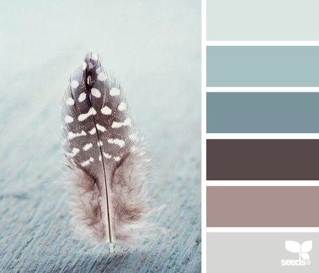 feathered tones - voor meer kleurinspiratie en kleurentrends check ook http://www.wonenonline.nl/interieur-inrichten/kleuren-trends-2014/ eens