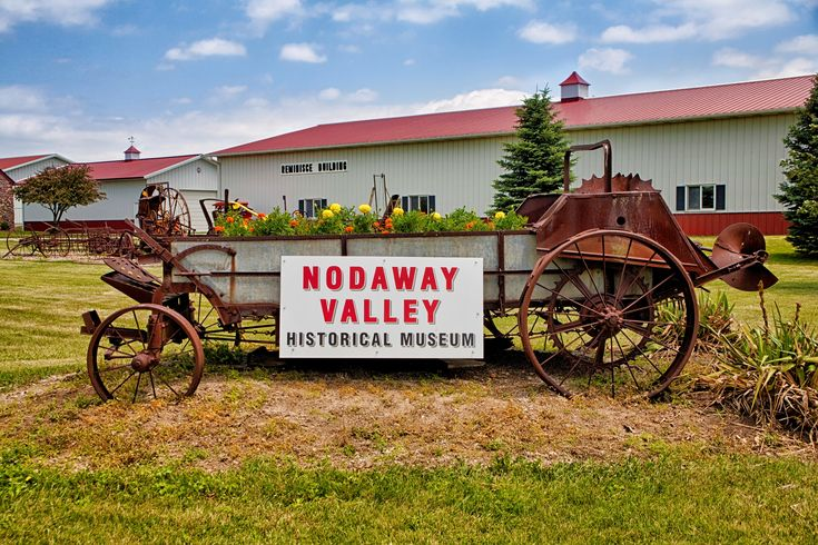 """I am a charter member of the Nodaway Valley Museum in my hometown of Clarinda, Iowa.  This treasure has an old time """"main street"""" you can walk around to see, as well as two large buildings jam packed full of local historical memorabilia."""