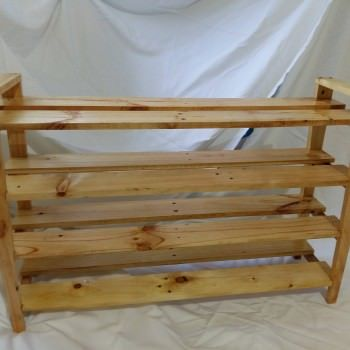 Simple pallet shoes rack zapateras palets y madera for Zapatero mueble easy