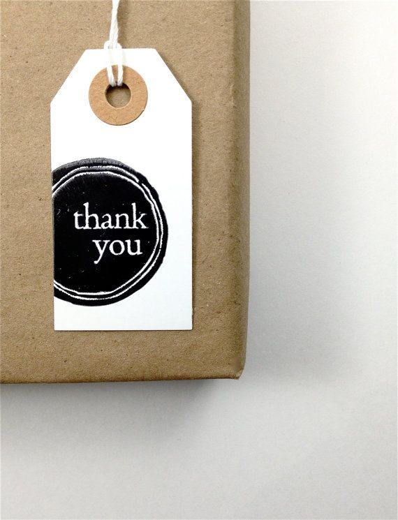 Thank You Gift Tags Thank You Tags by everydaysaholiday on Etsy