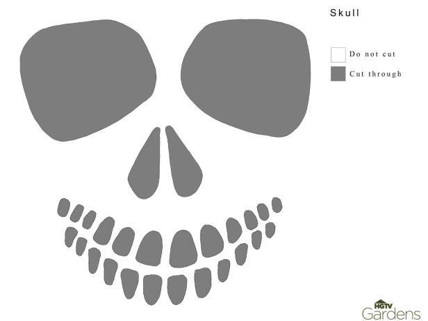 The 16 best stencils images on pinterest sugar skull for Free skull pumpkin carving patterns