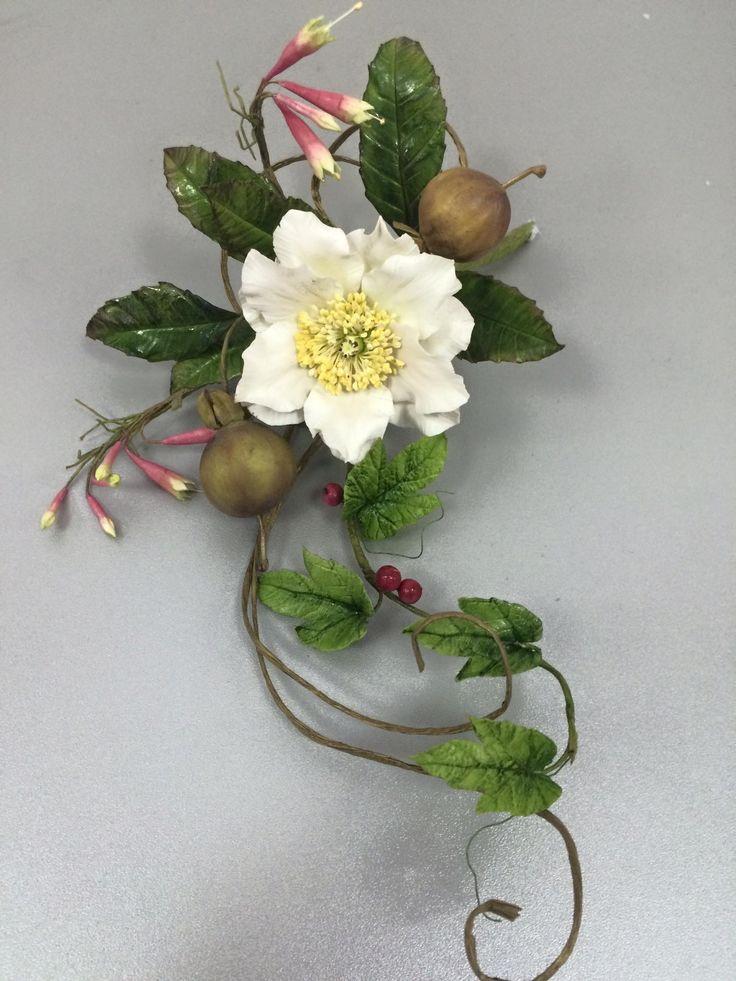 739 best gum paste flower images on Pinterest | Fondant flowers ...
