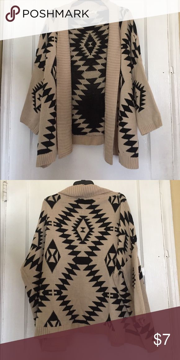 Tribal print cardigan Tribal print cardigan. Only worn a few times and it is still in great condition. illa illa Sweaters Cardigans