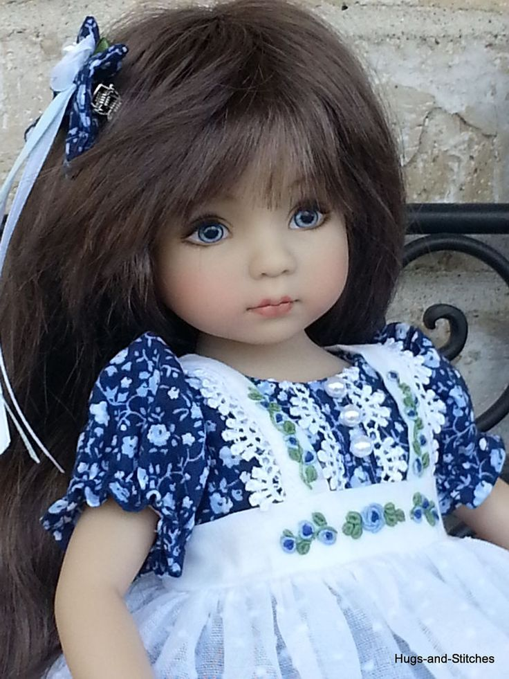 "5 piece set ""Blissfully Blue"" By Eileen for Effner Little Darling 13"" doll"