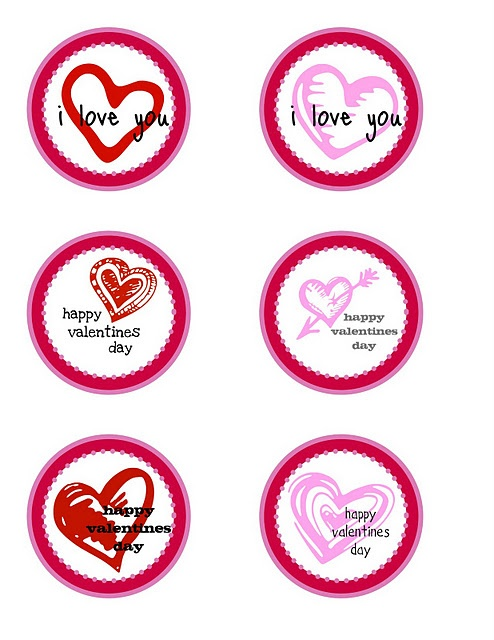 {FREE PRINTABLE} valentines day   favor circles / gift tags