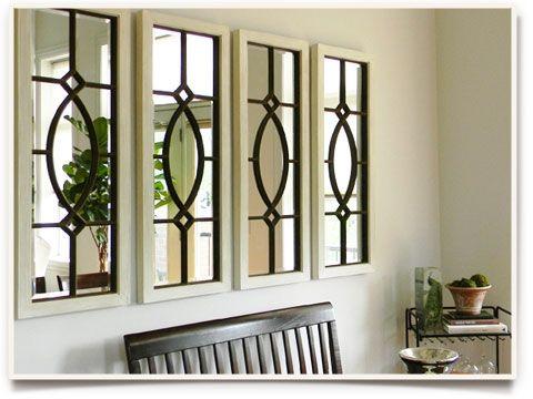 mirrors would look nice a garden (indoor/outdoor) room perhaps..