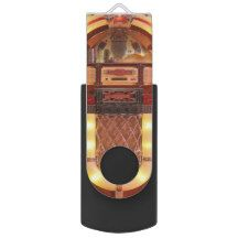 #Jukebox Rock 'n' Roll #Music #Vintage #USB Swivel USB 2.0 Flash Drive #ChristmasGift