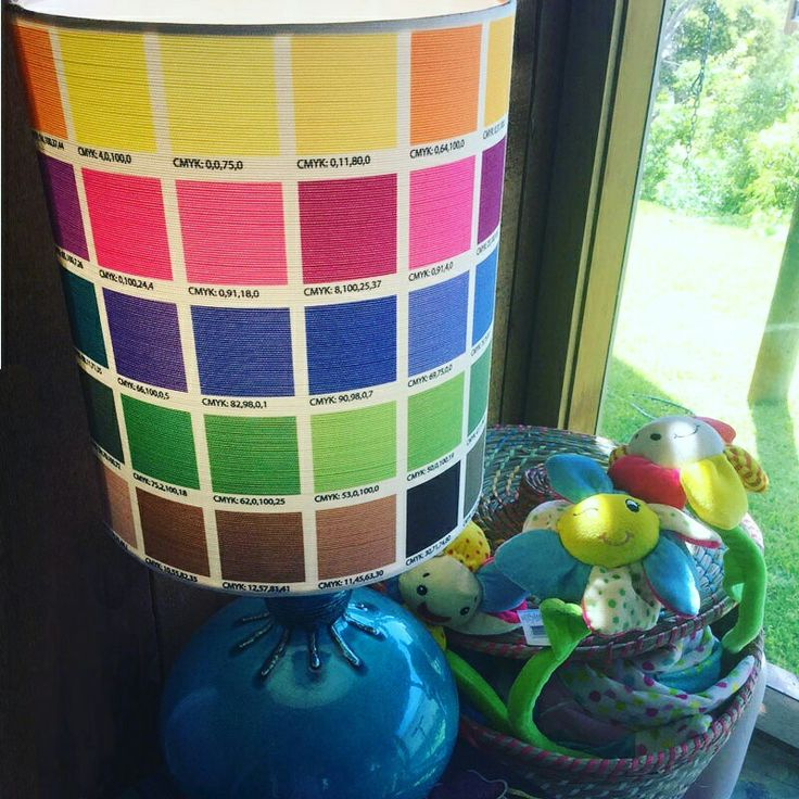 COLOUR CORNER Our #ChromoNumero #fabric adds even more #colour to this #colourful corner of one of our client's kid's play room. The 'colourchart' fabric is available online @socialfabricau #colourchart #retrofabrics #retrolampbase #furnishingfabric #lampshadefabric #interiordesign #kidsrooms #midcenturymodern #pantonecolours #australianmade