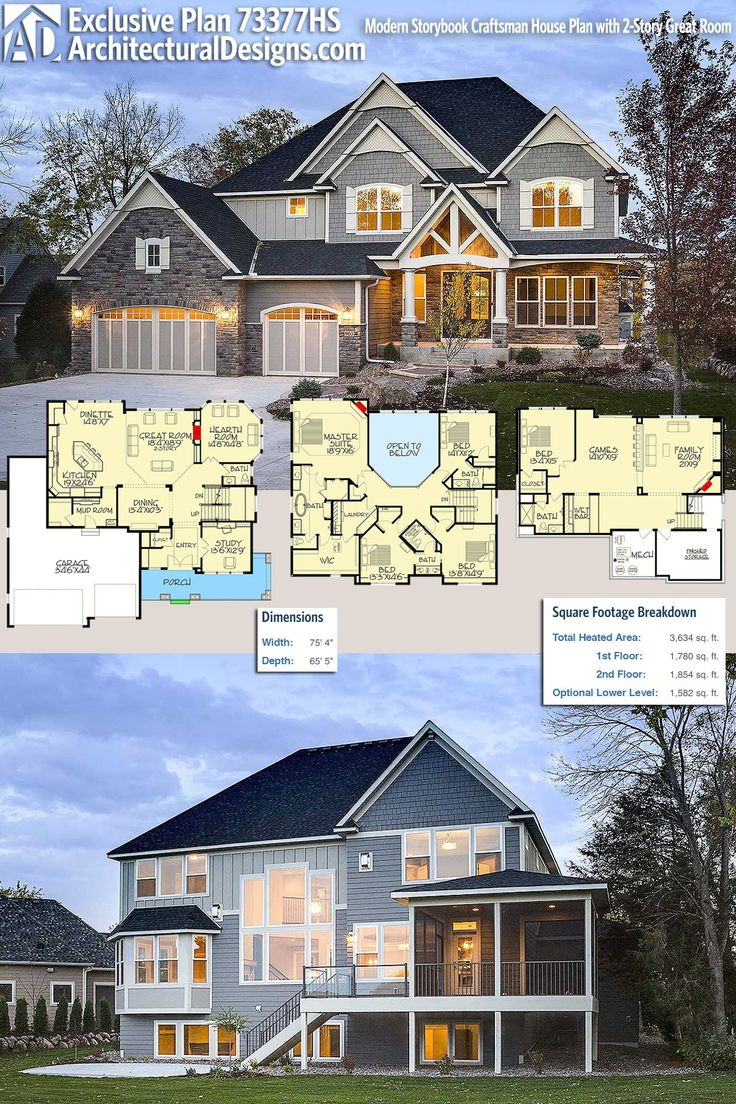 212 best craftsman house plans images on pinterest for Storybook craftsman house plans