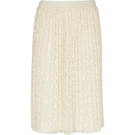 Cream Pleated Skirt 24
