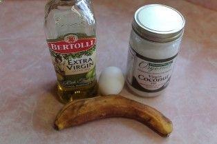 BANANA FACIAL MASK 1 Banana, 1 Egg Yolk, 1-2 Tsp. Organic Coconut Oil or Olive Oil, extra virgin