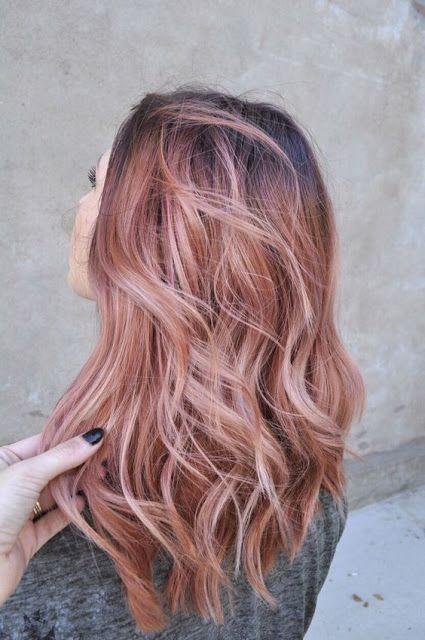 Rose gold hair color - Nails, Toenails, Hair, Tattoo art, Trends!